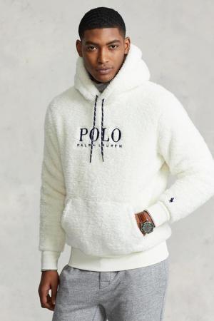 hoodie met logo clubhouse cream