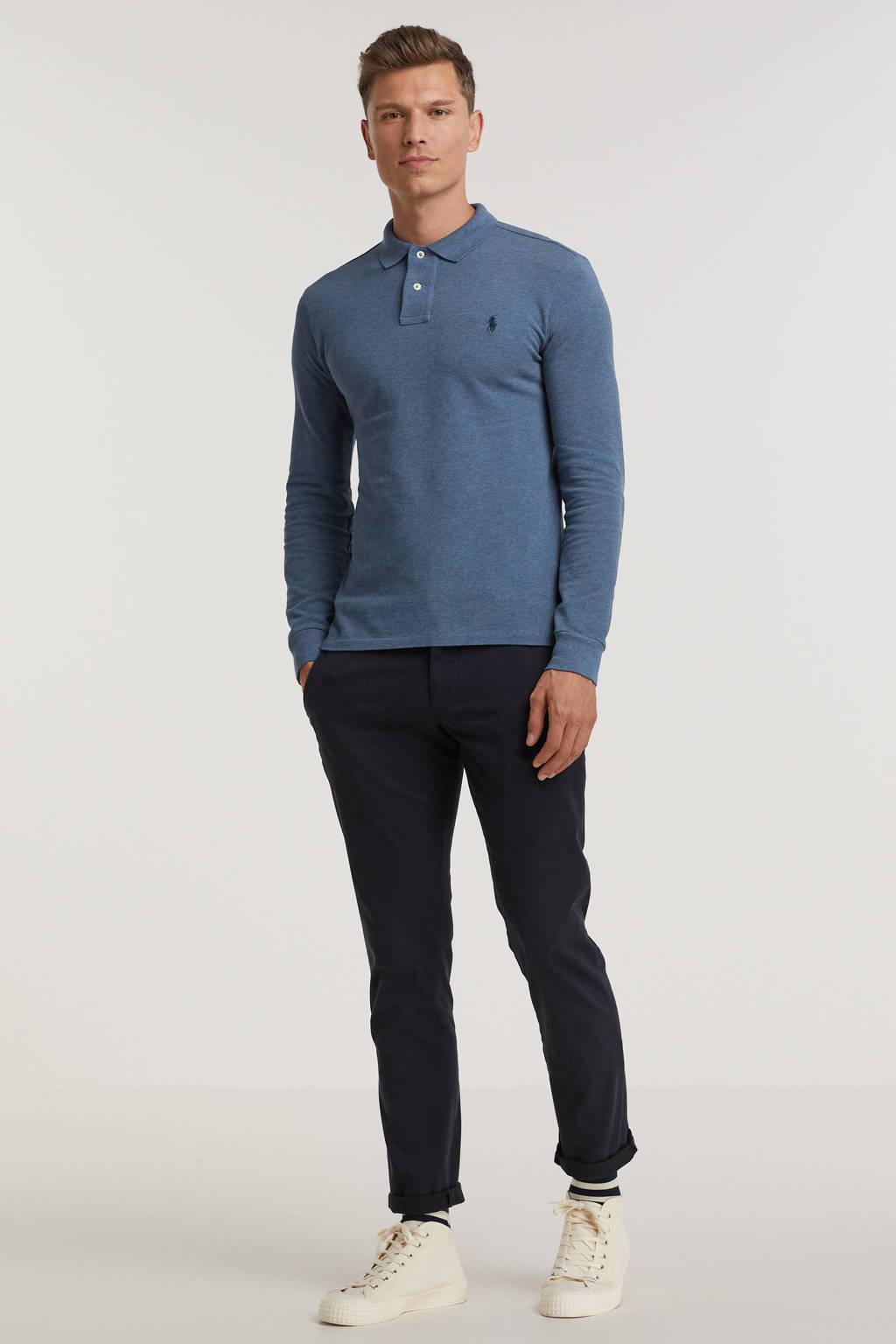 POLO Ralph Lauren fijngebreide polo blauw, Blauw