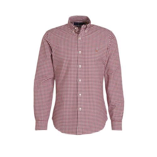 POLO Ralph Lauren gestreept regular fit overhemd roze/wit