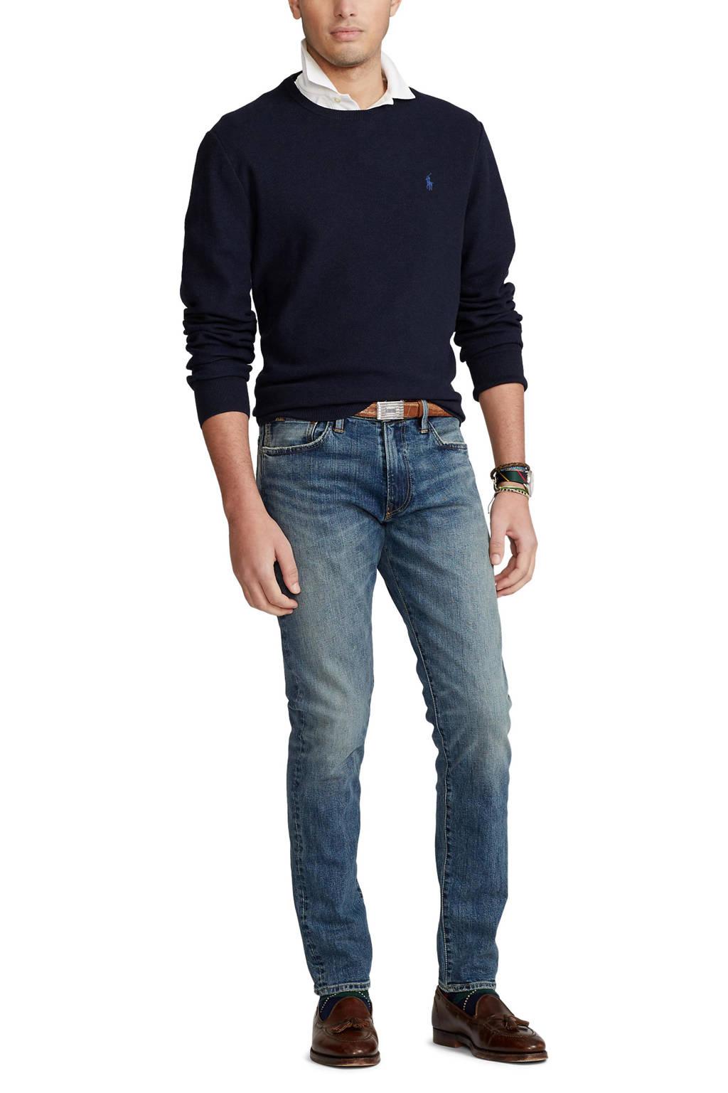 POLO Ralph Lauren fijngebreide trui donkerblauw, Donkerblauw