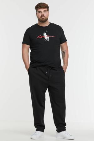 +size regular fit joggingbroek Plus Size zwart
