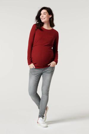 low waist skinny jeans Avi grijs stonewashed