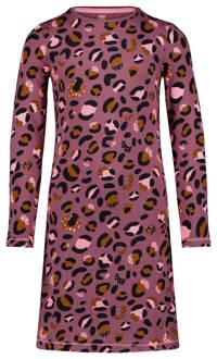 HEMA nachthemd met all over print roze/zwart, Roze/zwart