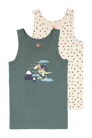 hemd - set van 2 grijsgroen/ecru