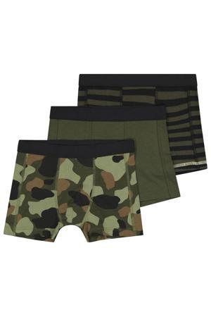boxershort - set van 3 groen/bruin/zwart