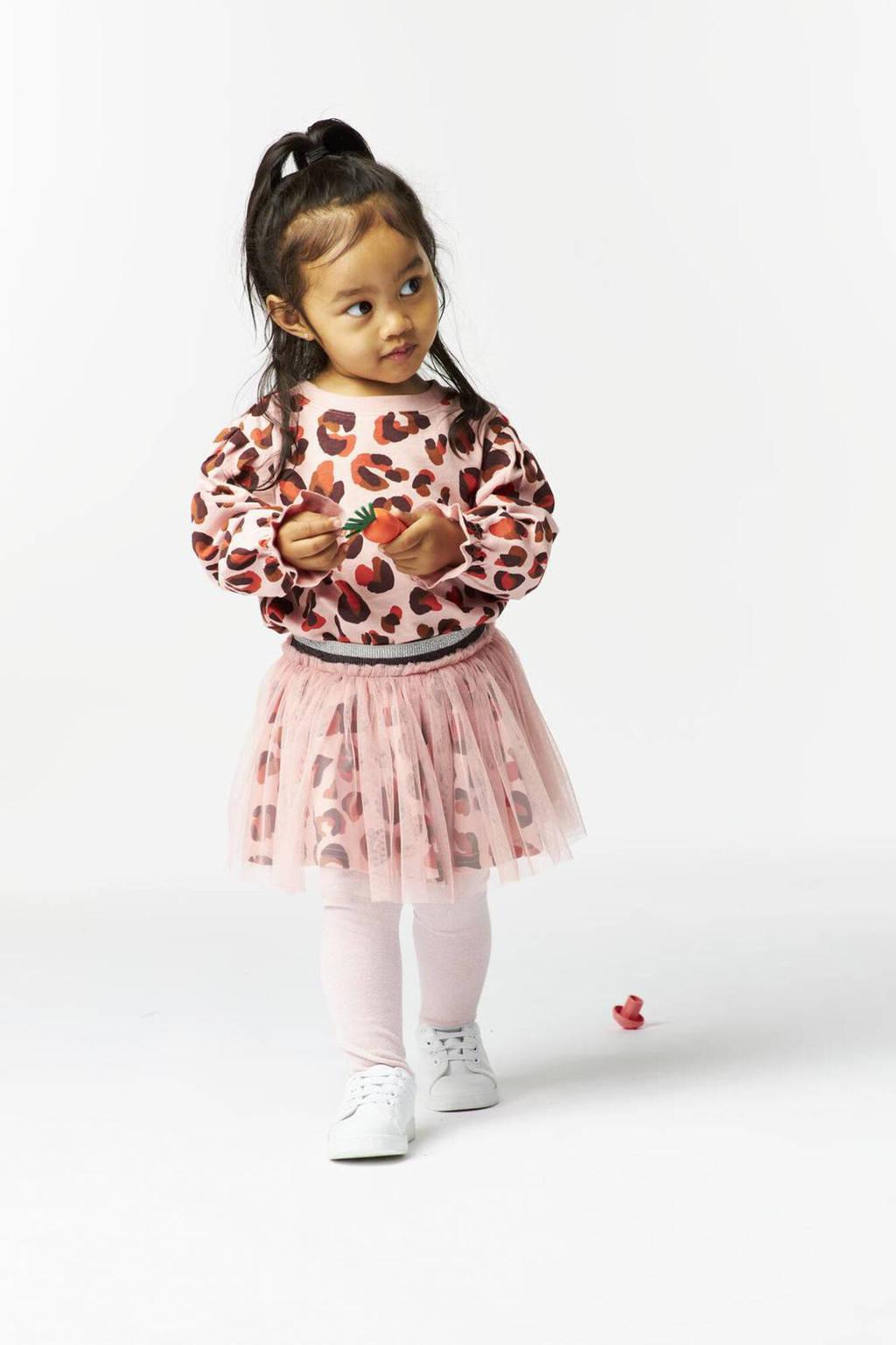 HEMA sweater met all over print oudroze/donkerrood/zwart, Oudroze/donkerrood/zwart