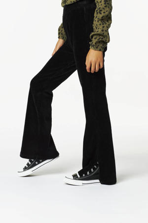 corduroy flared broek Wani zwart