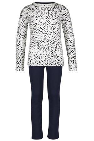 pyjama met stippen wit/zwart