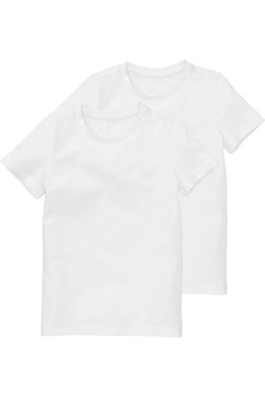 basic T-shirt - set van 2 wit