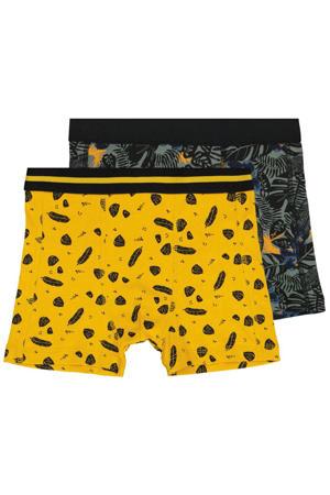 boxershort - set van 2 zwart/geel