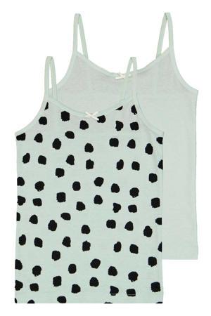 hemd - set van 2 mintgroen/zwart