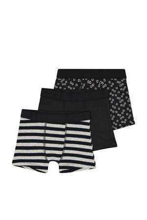 boxershort - set van 3 zwart/wit