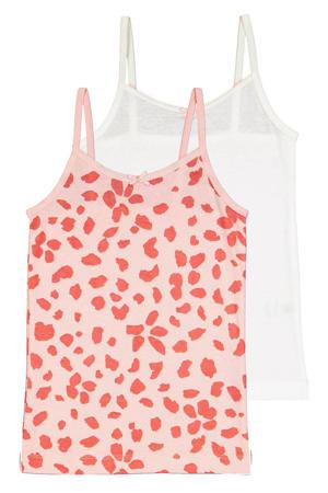 hemd - set van 2 roze/wit