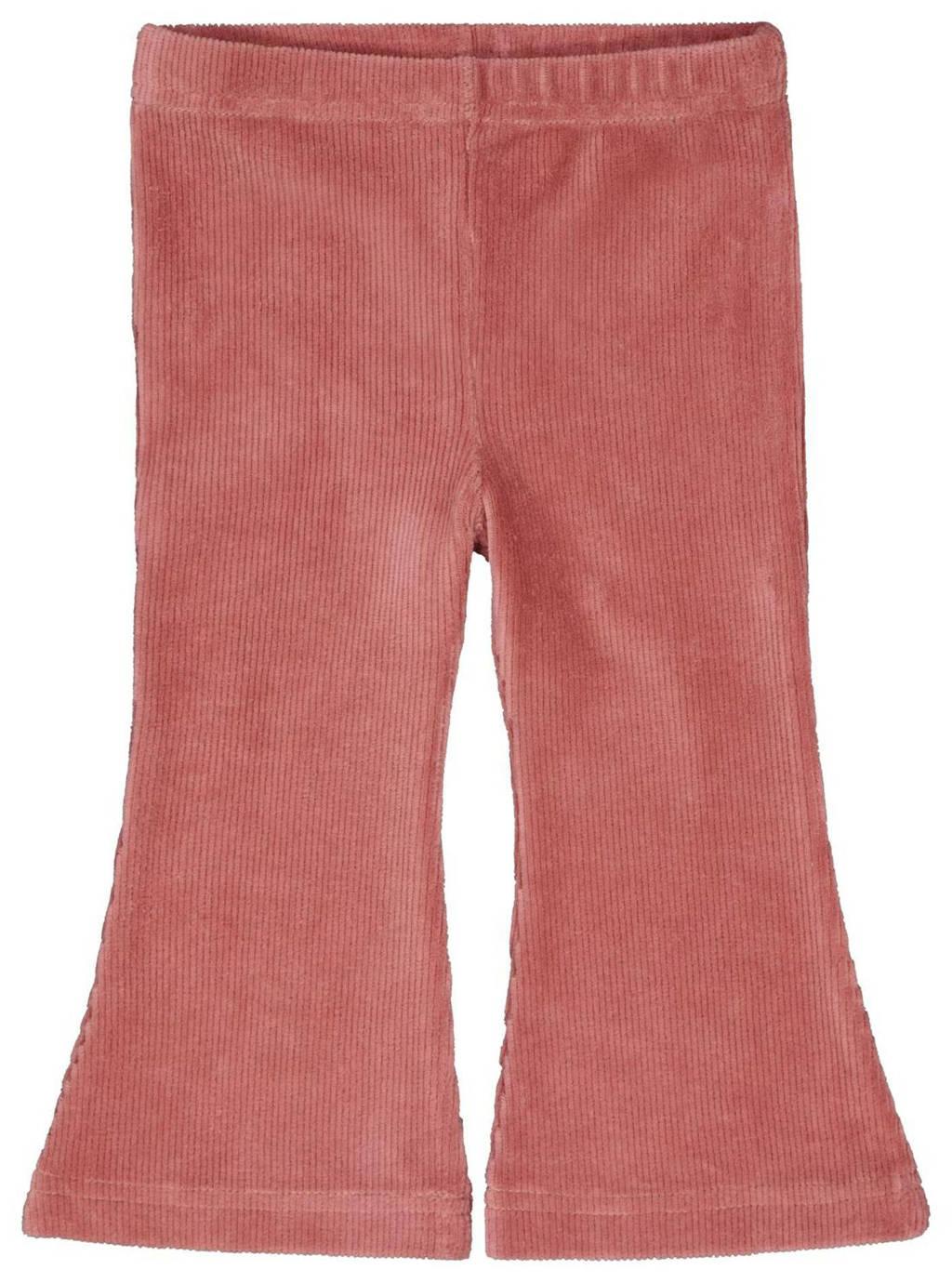 HEMA flared broek oudroze, Oudroze