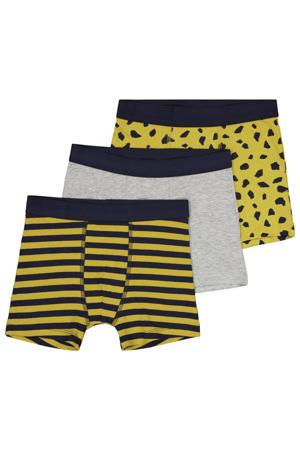 boxershort - set van 3 geel/zwart/grijs