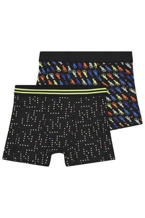 boxershort - set van 2 zwart multi