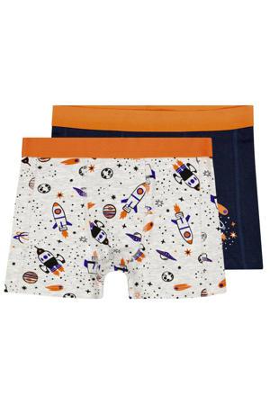 boxershort - set van 2 donkerblauw/ecru