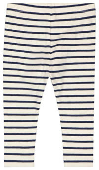 HEMA baby legging - set van 2 donkerblauw/wit, Donkerblauw/wit