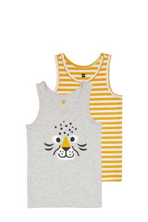 hemd - set van 2 geel/grijs
