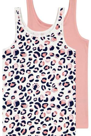 hemd Leopard - set van 2 roze/zwart