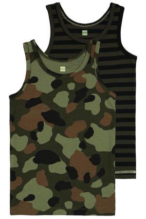 hemd - set van 2 groen/bruin/zwart