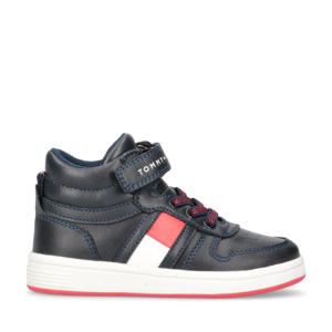 hoge sneakers donkerblauw