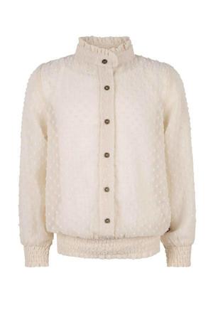 semi-transparante blouse met textuur ecru