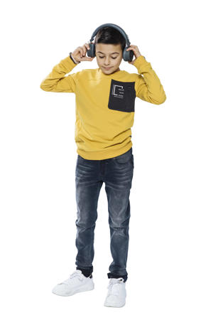 sweater oker/zwart