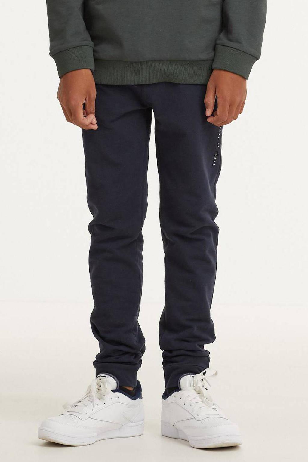 Indian Blue Jeans skinny joggingbroek donkerblauw, Donkerblauw