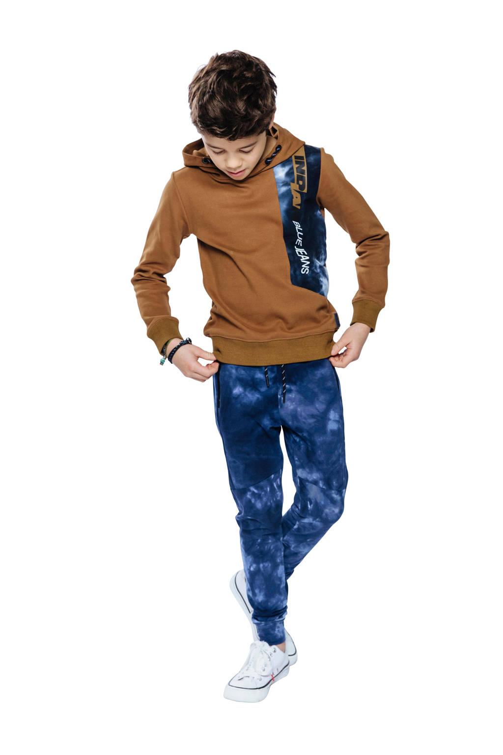 Indian Blue Jeans hoodie met printopdruk cognac, Cognac