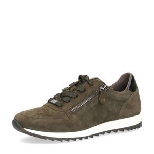 Mila  leren sneakers olijfgroen
