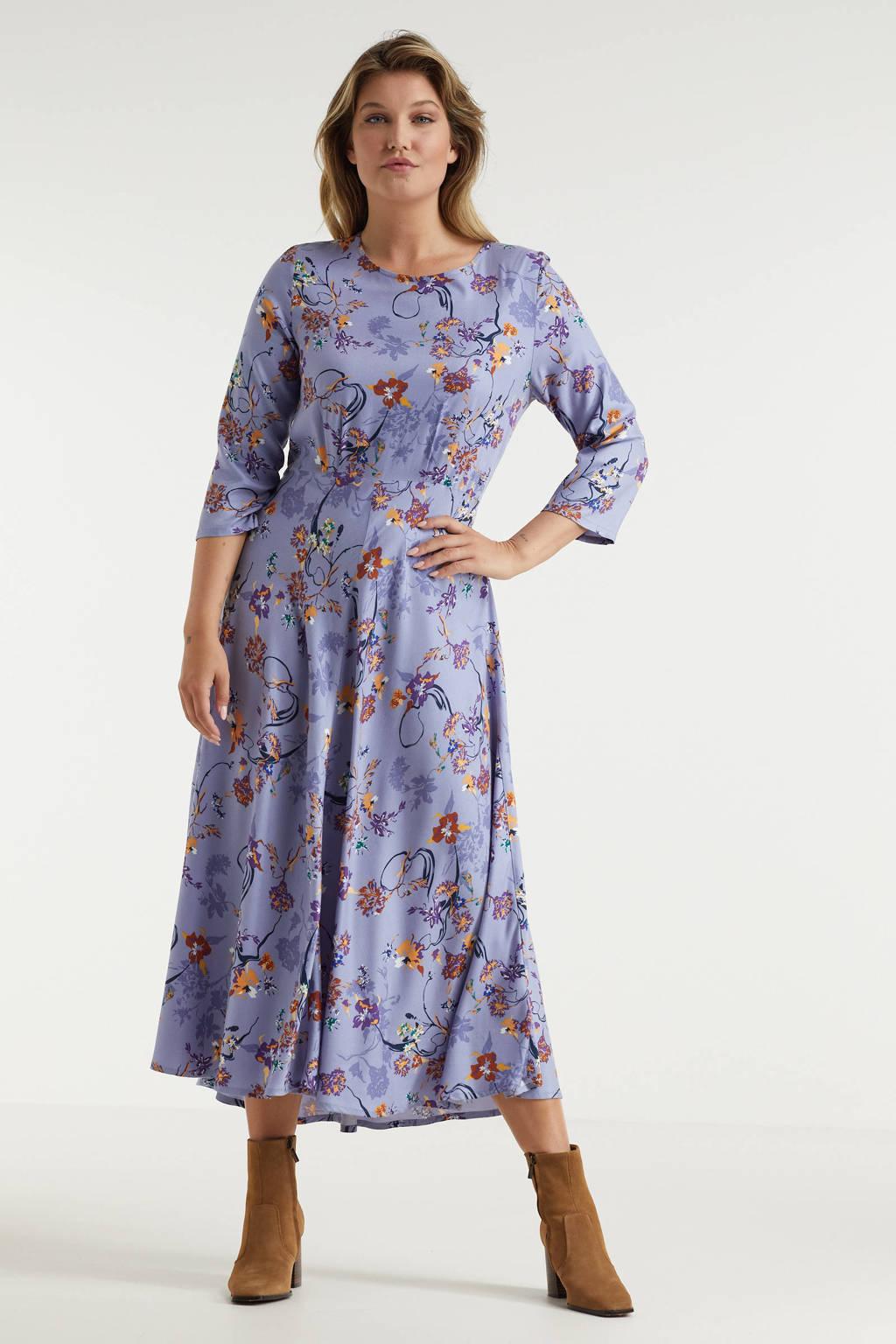 Miljuschka by Wehkamp A-lijn jurk met print lavendel, Lila