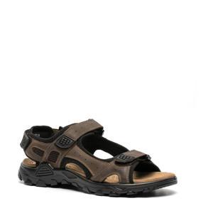 leren outdoor sandalen donkerbruin