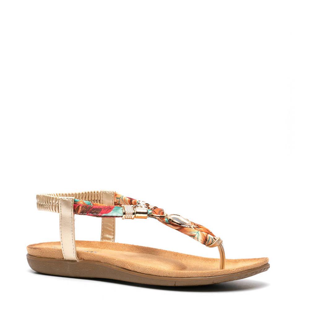 Scapino Blue Box   sandalen goud, goud/multi