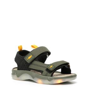 sandalen met lichtjes kaki/zwart