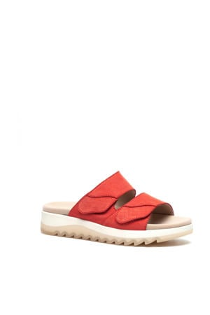 comfort leren slippers rood
