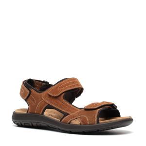 suède outdoor sandalen bruin