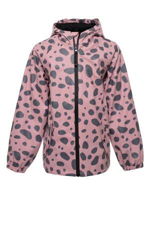 unisex regenjas roze/zwart