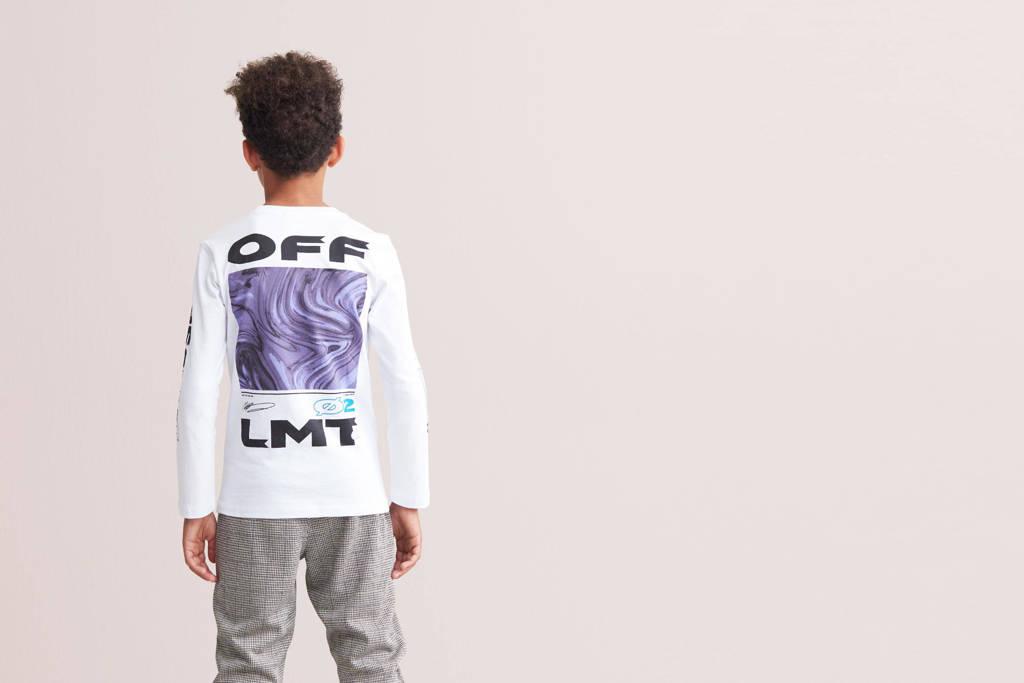 Shoeby Jill & Mitch T-shirt Dante met tekst wit, Wit