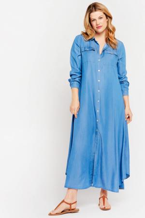 blousejurk denimblauw