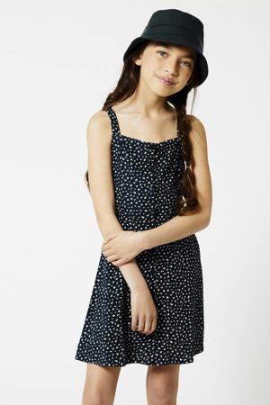 gebloemde jurk Duffy donkerblauw