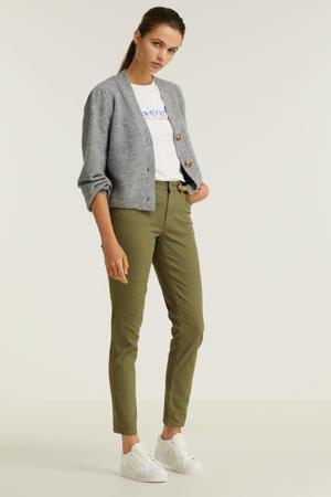 mid rise jeans kaki groen