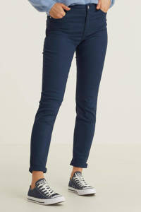 anytime mid rise jeans blauw, Blauw