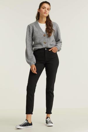 mid rise jeans zwart