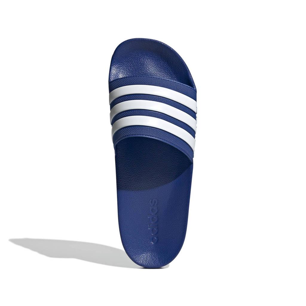 adidas Performance Adilette Shower badslippers blauw/wit, Blauw/wit