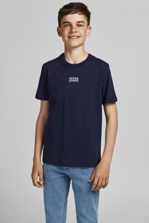 T-shirt JCOCLASSIC met logo donkerblauw