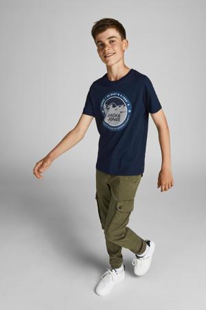T-shirt JCOBILO met logo donkerblauw