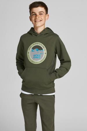 hoodie Bilo met logo groen