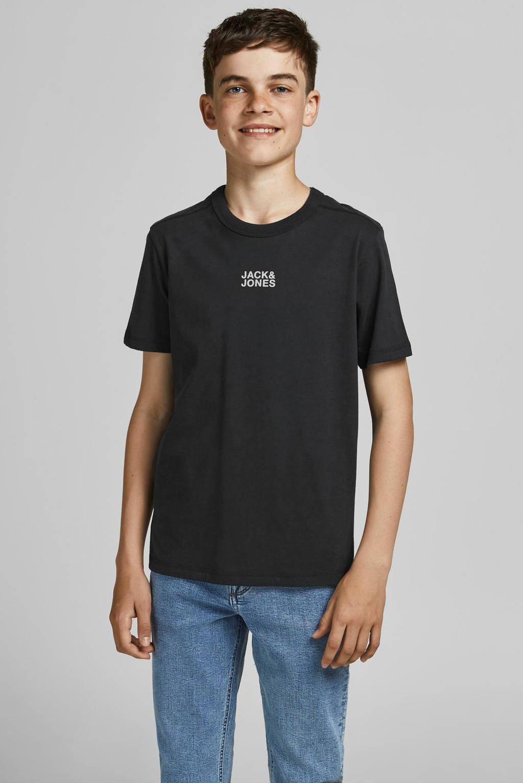 JACK & JONES JUNIOR T-shirt JCOCLASSIC met logo zwart, Zwart
