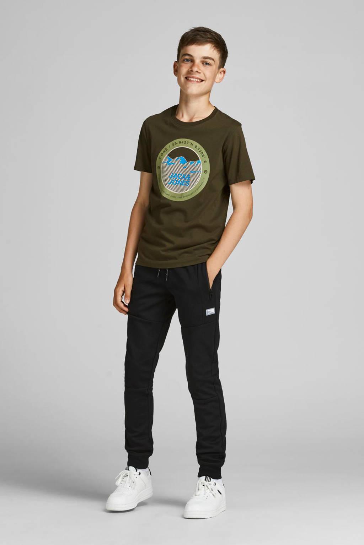 JACK & JONES JUNIOR T-shirt JCOBILO met logo groen, Groen